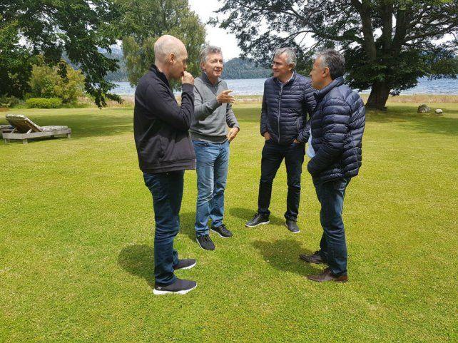 Macri recibió ayer en Villa La Angostura
