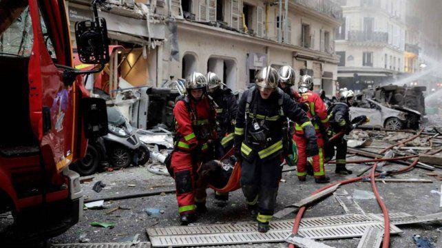 Una veintena de heridos fue el saldo de una explosión en una panadería en París