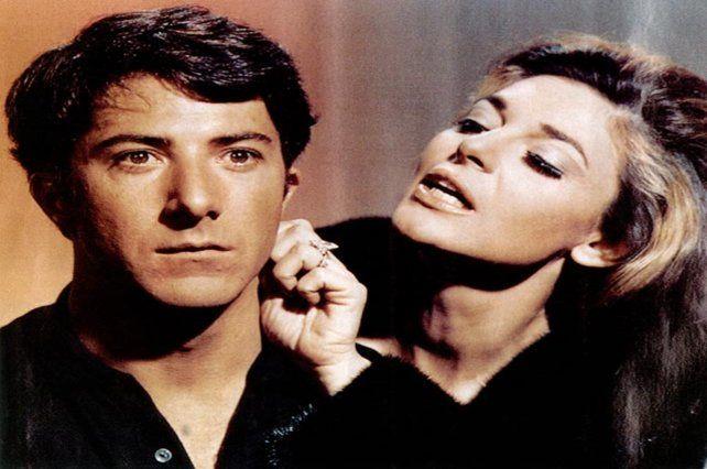 El graduado. Dustin Hoffman y Anne Bancroft. El filme ganó un Oscar en 1967.
