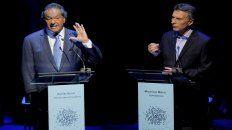 Scioli y Macri, en el debate antes del ballottage de 2015. La obligación de debatir ahora fue fijada por una ley.