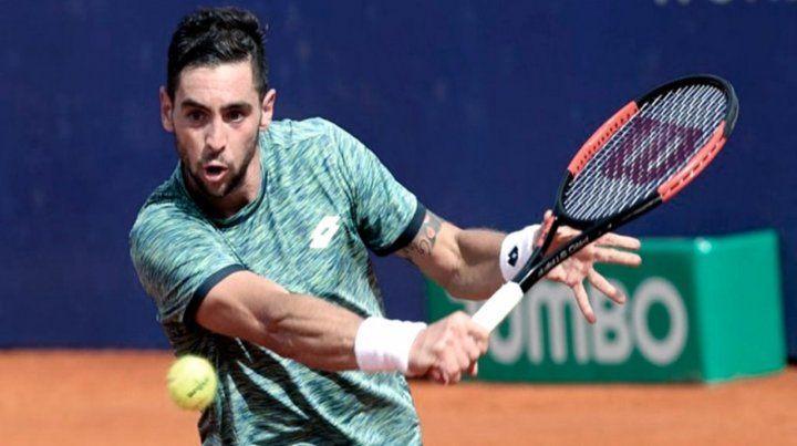 El tenista bonaerense enfrentará en el debut al italiano Stefano Travaglia