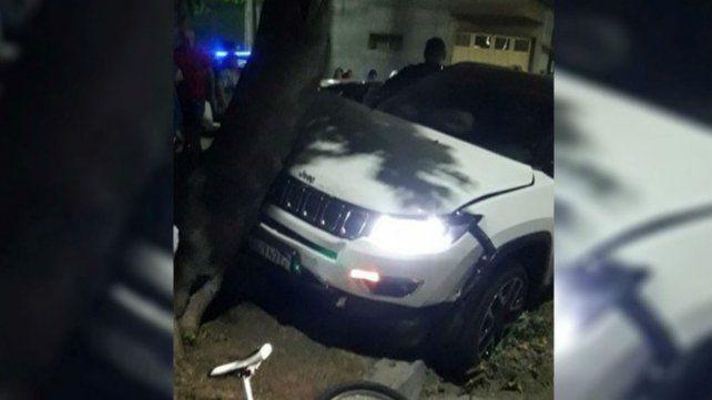 Alan Franco chocó con su camioneta y resultó herida una embarazada