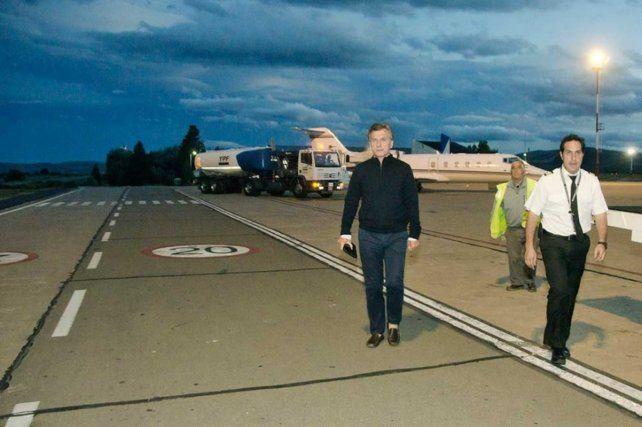 En camino. El presidente tiene previsto un vuelo sin escalas a Brasil desde el sur argentino.