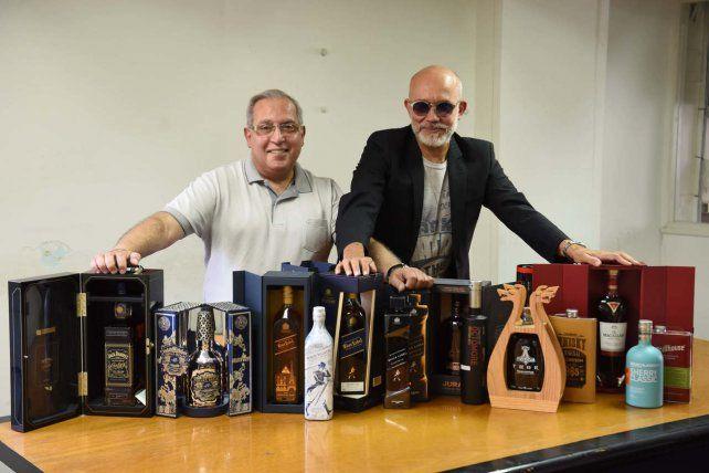Los dueños del blend. Apa y Limonta atesoran botellas inéditas.