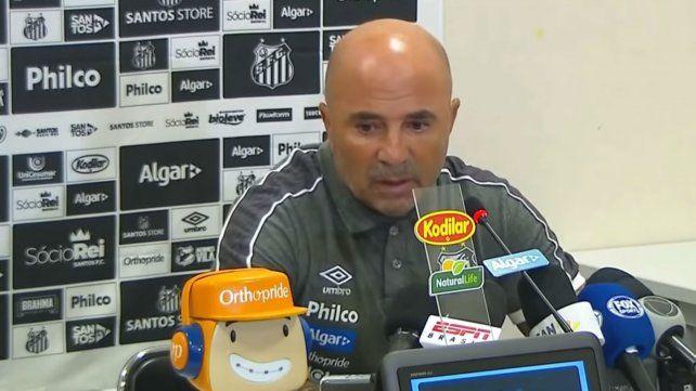 El furcio de Sampaoli tras su primer amistoso con el Santos
