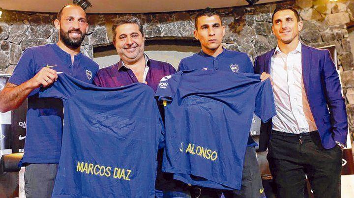Refuerzos oficiales. Marcos Díaz y Junior Alonso