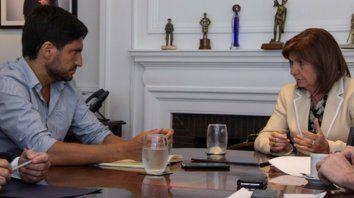 Balance positivo. El ministro Pullaro se reunió con su par nacional, Patricia Bullrich, en la sede del Ministerio de Seguridad de la Nación.