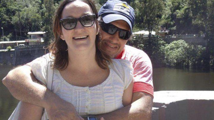 Danisa y Jorge en otro momento de la relación.