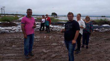 Solidaridad de los municipales con los inundados