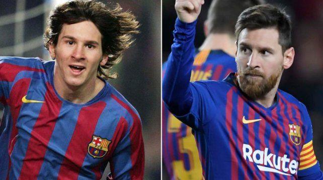 Messi también se sumó al 10yearschallenge.