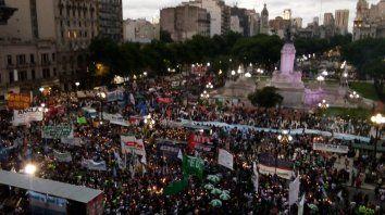 Masivo. La primera marcha se realizó el jueves pasado en Buenos Aires. Hoy la movilización es en Rosario.