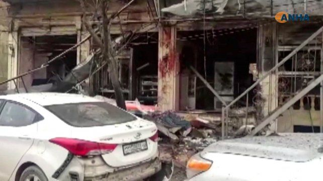 Matanza. El lugar donde el terrorista detonó el explosivo.