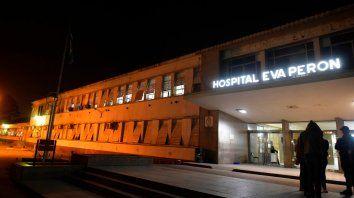 Hospital. Maura V. estaba anoche en estado crítico en el Eva Perón