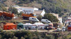 Movilización. Un gran campamento ha surgido en torno al pozo, en la campiña de Málaga, Andalucía.