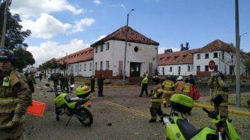 Barbarie. La escuela de oficiales de policía donde un hombre, luego identificado, detonó 80 kilos de pentonita.