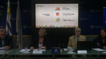 La ministra de Turismo, Liliam Kechichian, y el viceministro de Turismo, Benjamín Liberoff, presentaron el informe de la situación del sector en Uruguay.
