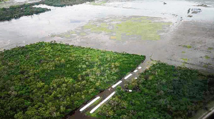 Desbordada. La superficie inundada de Santa Fe sería de 3 millones de hectáreas.
