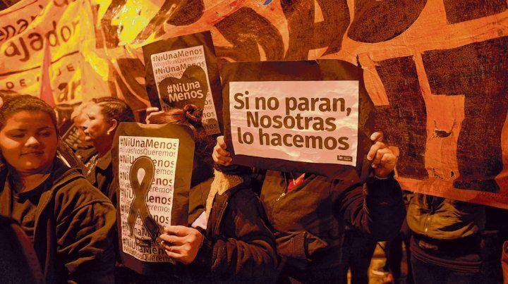 Protesta. Una de las actividades organizadas por el colectivo Ni Una Menos