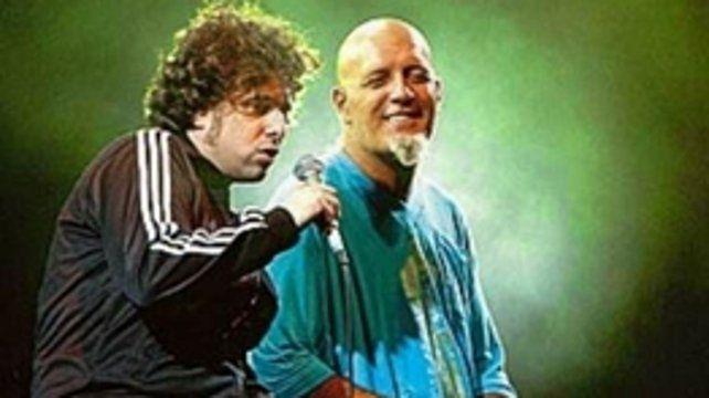 Juntos. Calamaro grabó en vivo El regreso con la Bersuit en 2005.