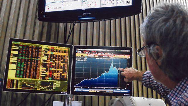 Suba. El panel líder de la Bolsa porteña cerró con una suba de 0