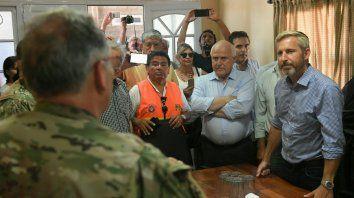 El gobernador y el ministro Frigerio recorrieron Villa Minetti y dialogaron con las autoridades.
