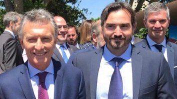El diputado nacional, Lucas Incicco, junto al presidente Macri.
