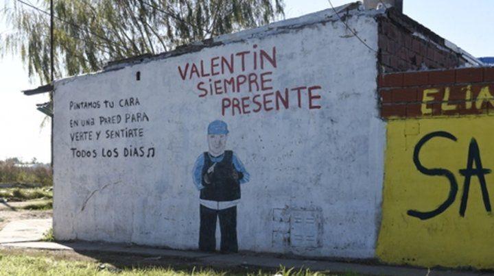 Recuerdo. Valentín desapareció en noviembre de 2016 cuando salió de su casa de Cabín 9 y nunca más volvieron a saber sobre él.