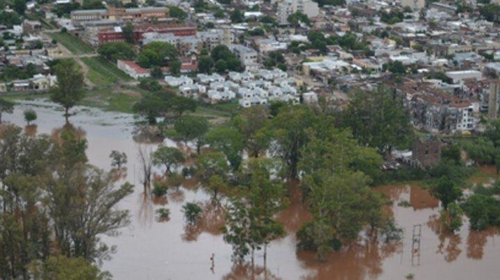 Panorámica. Concordia sufre una de sus peores inundaciones.