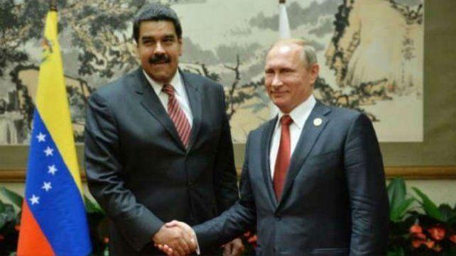 El presidente ruso no dudo en respaldar al venezolano.