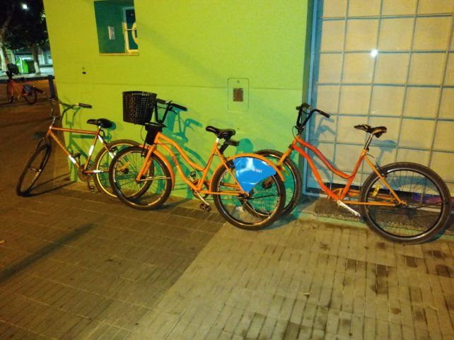 Las bicicletas fueron incautadas en San Nicolás y Riobamba.