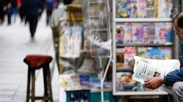 alerta. Los vendedores de diarios y revistas visibilizaron el problema.