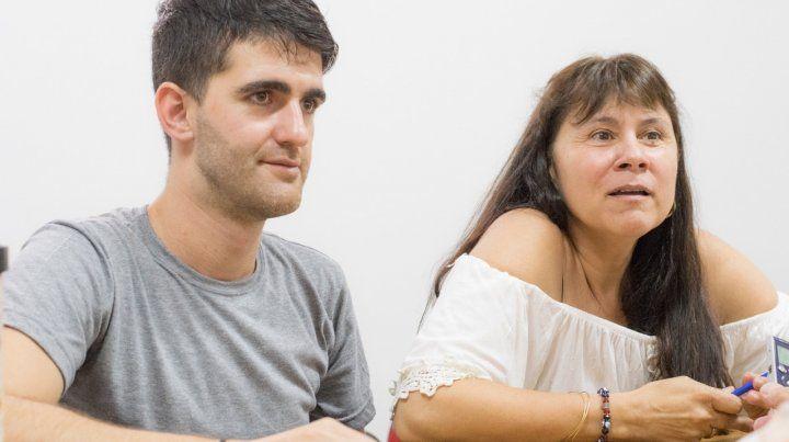 Comprometidos. Juan Marenghini y Alicia Cavallero expresaron su disconformidad con la gestión oficial.