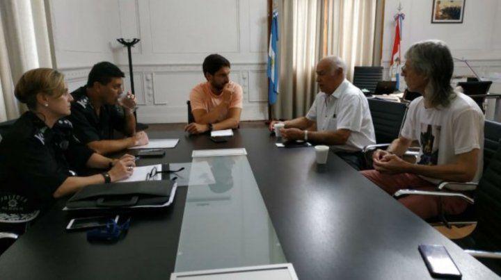 Reunión. El ministro