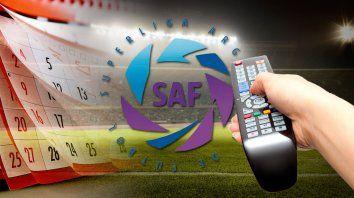 Señal de ajuste para el fixture de la Superliga