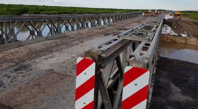 Con el puente listo, se habilitó el tránsito en la ruta provincial 1