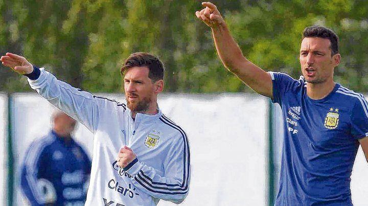 Allá vamos. Messi y Scaloni
