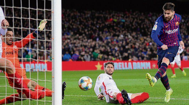 El sexto. Contra letal y gol de zurda de Messi