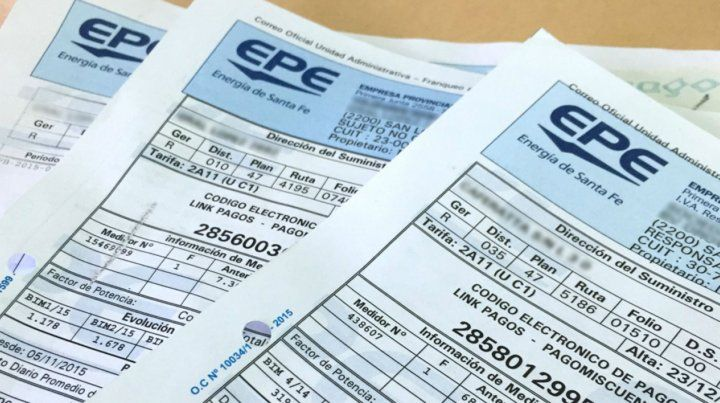 Las facturas del servicio de energía llegarán con un ajuste el mes próximo.