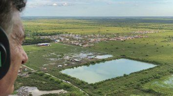 macri visito las zonas inundadas en el norte santafesino