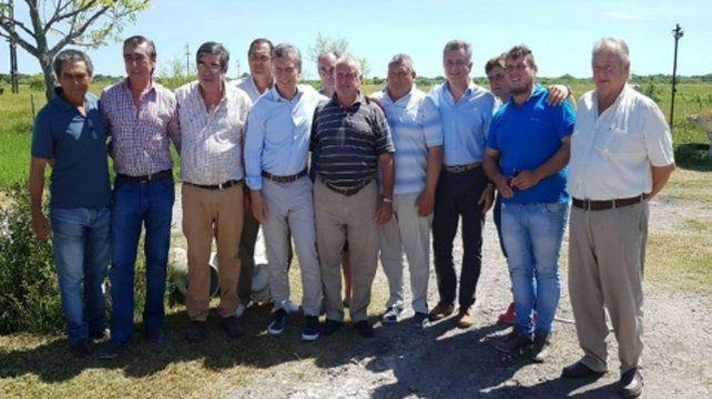 juntos. Macri con los productores agropecuarios.
