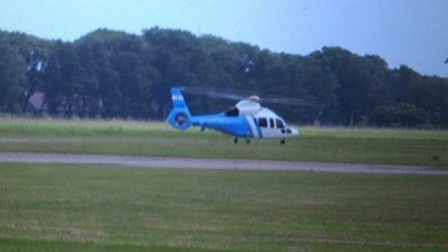 El presidente abordó un helicóptero en el aeropuerto de Reconquista y partió al campo.