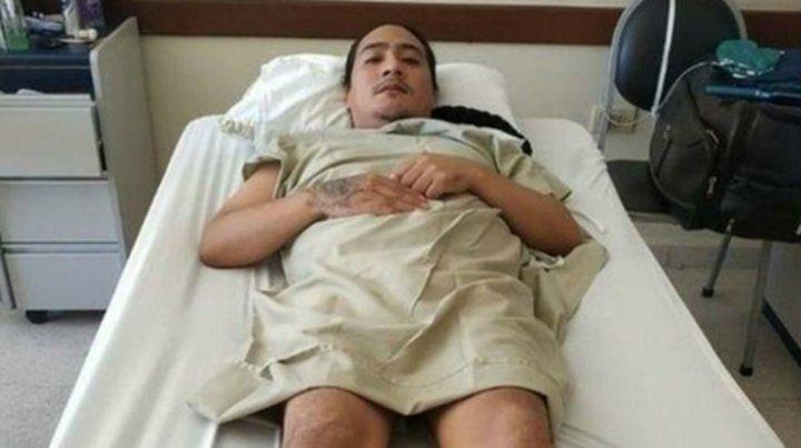 herido. Vilca será finalmente operado en Jujuy. El gobierno debió pagar para poder sacarlo de Bolivia.