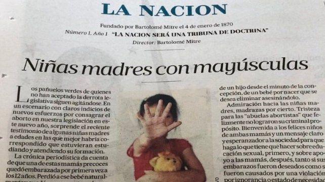 La editorial del diario La Nación que salió sin firma y levantó un fuerte rechazo en varios sectores de la sociedad.