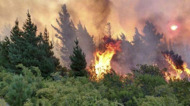 Epuyén sufre el fuego después del hantavirus