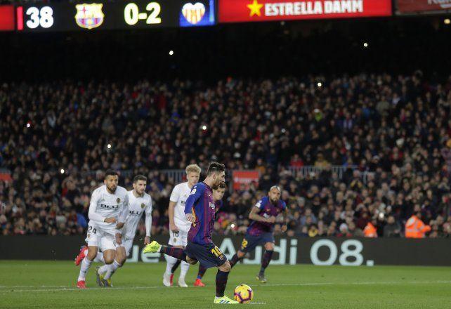 Lio Messi marcó los dos goles del Barsa