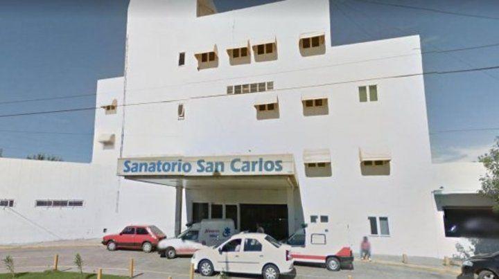 El hecho ocurrió en una habitación del Sanatorio San Carlos de la localidad bonaerense de Maquinista Savio.