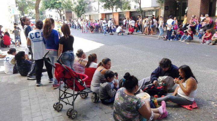 La protesta de la CCC en la zona de España al 500.
