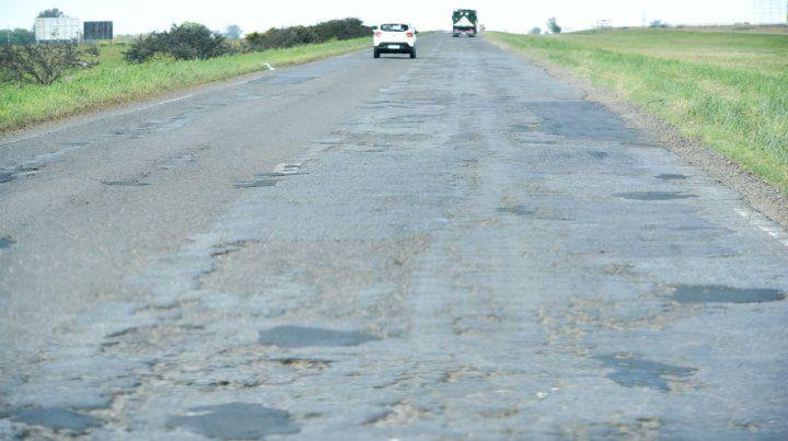 El tramo más deteriorado es el que va de Carcaraña a Roldán.