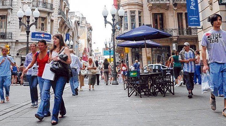 La zona. La última cuadra de la peatonal es un sector muy concurrido en la ciudad.
