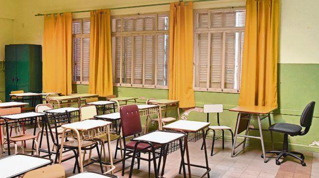 En espera. Las aulas aguardan la resolución de las negociaciones.